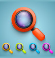 set of magnifying glass vector image