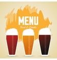 Set of beer glasses Drink and beverage design vector image