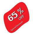 65 off discount price tag special discount vector image vector image