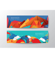abstract colorful polygon cloud banner design temp vector image vector image