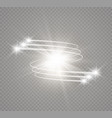 abstract glowing magic star light effect vector image vector image