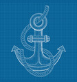 anchor sea symbol hand drawn sketch vector image
