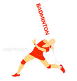 badminton sport flat vector image vector image