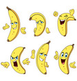 banana cartoon set vector image vector image