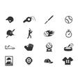 Baseball Icon set vector image vector image