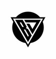 bd logo with negative space triangle and circle vector image vector image