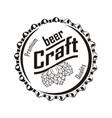 beer craft monochrome vector image vector image