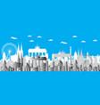 berlin city gradient 4 vector image vector image