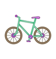 Bicycle icon cartoon style vector image vector image