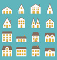big set of architecture vector image vector image