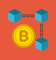 blockchain bitcoin currency crypto digital vector image