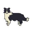 border collie farm animals line dog vector image