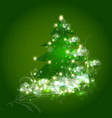 Christmas tree ornament card vector image vector image