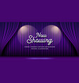 cinema theater curtains purple banner background vector image vector image