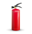 classic fire extinguisher metal glossiness vector image vector image