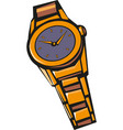 classic wrist watch eps 10 vector image vector image