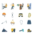 Climbing Equipment Icon vector image
