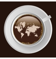 coffee with map vector image vector image