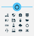 computer icons set collection of personal vector image vector image