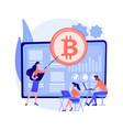 cryptocurrency trading courses abstract concept vector image vector image