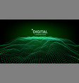 digital landscape data technology wave vector image vector image