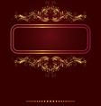 Elegant Border frame vector image vector image