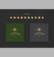elegant luxury brand logo design template