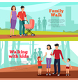 Family Banners Set vector image vector image