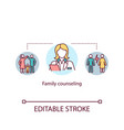 family counseling concept icon vector image