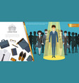 flat businessman style and accessories concept vector image