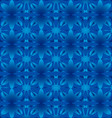 Floral pattern seamless background blue vector image