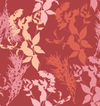 Flowers on pink background Seamless pattern vector image
