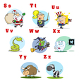 Funny Cartoon Alphabet Collection 3 vector image