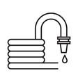 garden hose or firehose icon in line art vector image