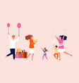 girl birthday party family festive happy people vector image