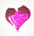 Grunge hearts on white background