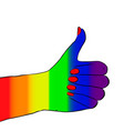 hand sign icon vector image vector image