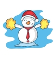 Happy snowman character Christmas theme vector image vector image