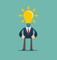 his head full of great ideas vector image vector image