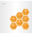 Honeycomb with medical flat icons vector image vector image