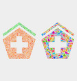 hospital mosaic icon triangles vector image vector image