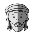 jamaican man character icon vector image vector image