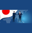 japan international partnership diplomacy vector image vector image