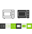 microwave simple black line icon vector image