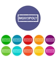 Monopoly flat icon vector image vector image