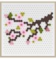 Mosaic Sakura vector image vector image
