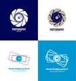 Photography camera logo icon set vector image