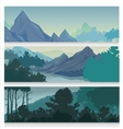 Picturesque Landscape Horizontal Banners vector image vector image