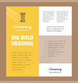 piller business company poster template with vector image