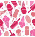 pink ice cream and stars seamless pattern vector image vector image